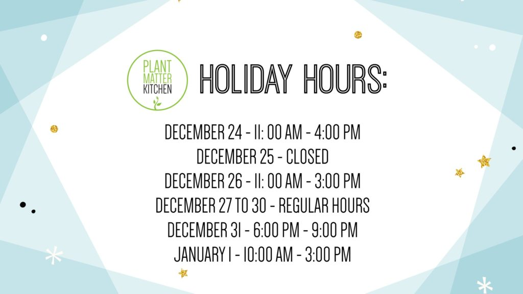 PMK – Holiday Hours